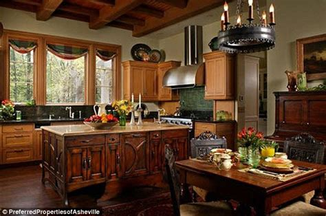 house beautiful inspired kitchen grace andie macdowell s storybook tudor hooked on houses