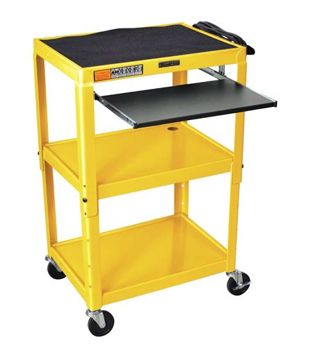 stand up computer desk on wheels projector cart laptop workstation standing stand up
