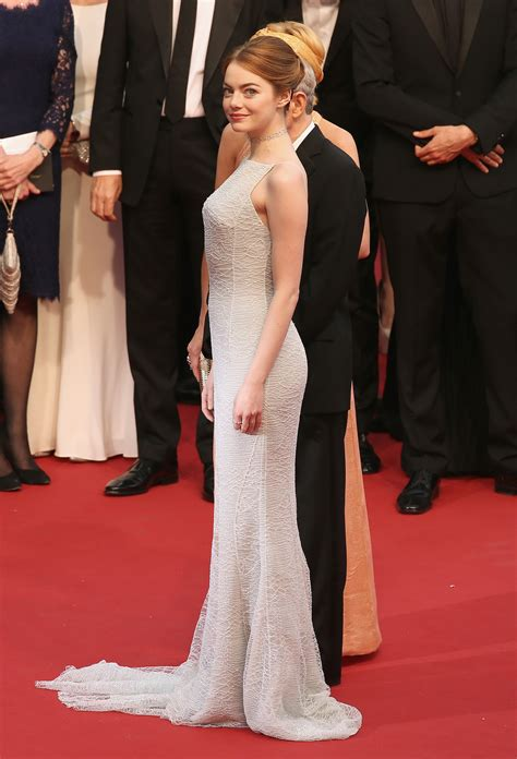 emma stone red carpet dresses is emma stone s dress too bridal for the red carpet