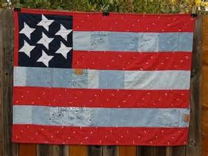 all american flag quilt by aletheaballard quilting pattern