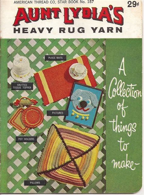 heavy rug yarn lydias heavy rug yarn collection of things to make american thread 187 patterns