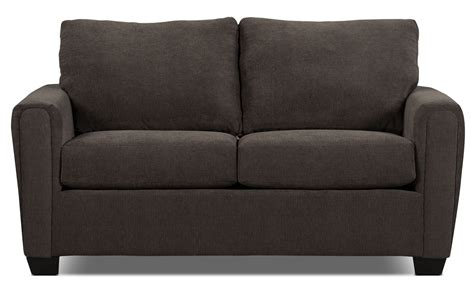 the brick sofa sale spa collection chenille condo sofa charcoal the brick