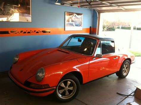orange porsche targa sell used gulf orange 1973 5 porsche 911t cis targa w