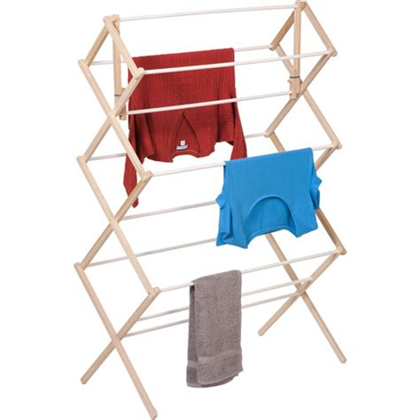 honey can do heavy duty wood accordion drying rack