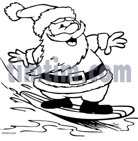 surfing santa coloring page pin by gina maddox on winter ideas pinterest