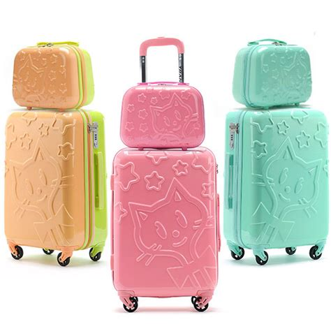 Luggage Bag Covers Hello 20 Inch 20 inch luggage suits hello suitcase trolley fashion vanity s cosmetic box