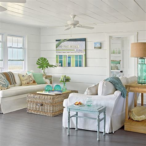 coastal decor living room hang a sunny textile 15 spring decorating ideas