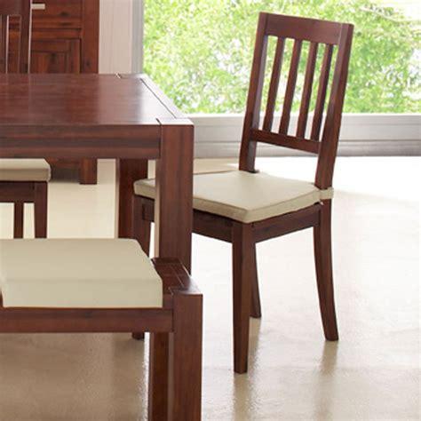 stuhl akazie stuhl cube 2er set aus akazie dunkel gebeizt