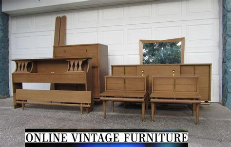 1950s bedroom set kent coffey sequence dresser credenza