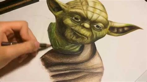 what color is yoda drawing yoda wars
