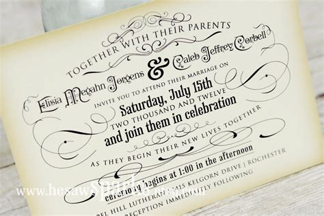 Vintage Wedding Invitation Printable Diy The Timeless Printable Wedding Invitations