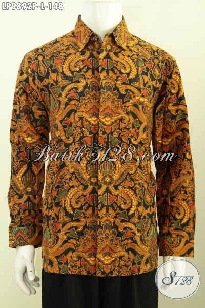 Kemeja Batik Klasik Lengan Panjang batik kemeja klasik lengan panjang model baju batik pria terbaru 2017 cocok buat acara resmi