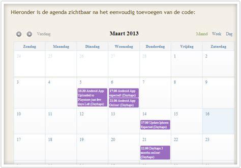 Website Calendar Een Kalender Op Je Website Met Dayhaps Jimdo