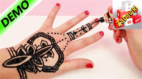 henna tattoo hält wie lange tatuaż z henny bez pomocy koleżanki tutorial youtube