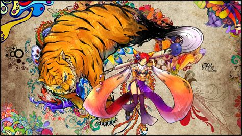 anime wallpaper tiger anime tiger girl wallpaper