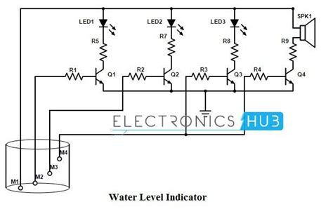 water level indicator project with circuit diagram simple water level indicator with alarm 3 tested circuits