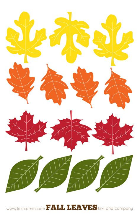 Printable Colored Autumn Leaves | fall leaves printables from kiki comin blog we made