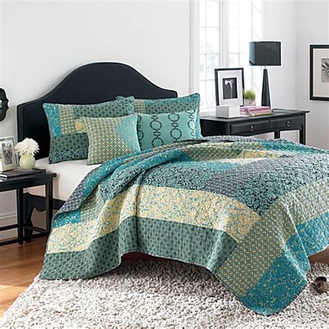 reba bedding steve madden reba quilt 100 cotton bed bath beyond