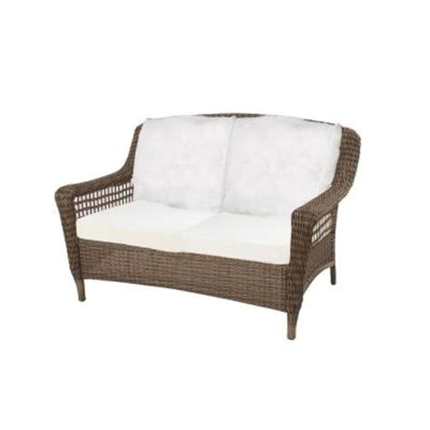hton bay wicker loveseat hton bay spring haven grey all weather wicker patio