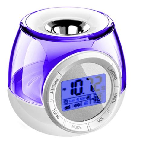 aromatherapy heater with digital alarm clock and fm radio