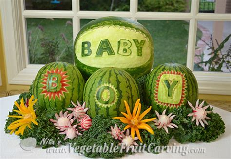Watermelon Crib For Baby Shower Baby Shower Fruit Ideas Nita S Fruit Carving