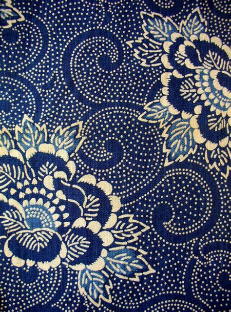 blue pattern material japanese textiles fabric of life