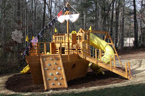 backyard pirate ship wood pirate ship playhouse plans image mag