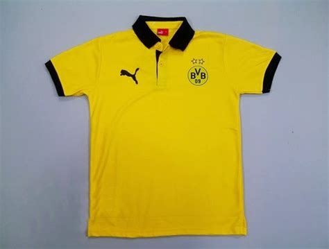 Kaos Bola Dortmund 2 polo shirt borussia dortmund yellow 2014 2015 big