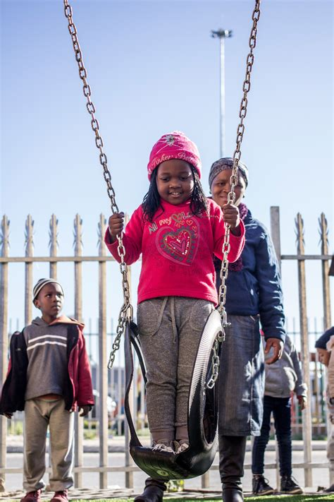 swinging south africa khumbulani reaches new heights with first playground