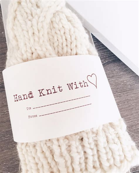 printable knitting tags free printable hand knit with love and hand crochet with
