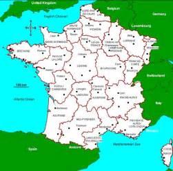 Kort over frankrig ferie i frankrig