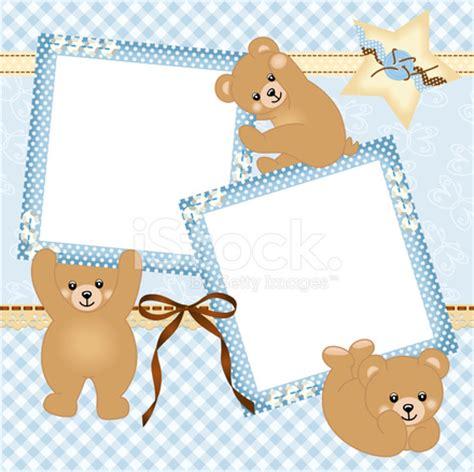 Frame Foto Teddy baby boy photo frame with teddy stock photos
