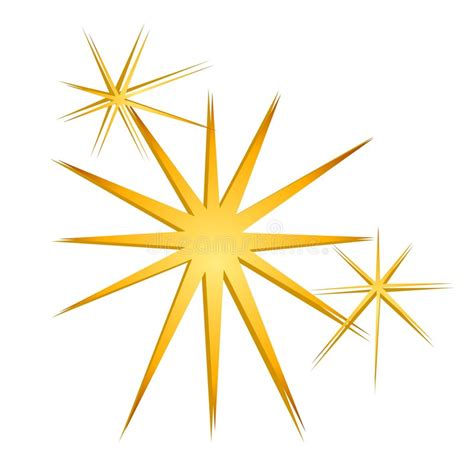 stelle clipart glitter sparkles gold stock illustration
