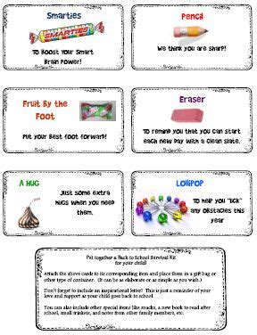 printable survival instructions back to school survival kit school survival kits