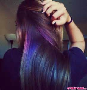hair color underneath purple hair dye color hairstyles
