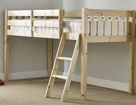 2ft 6 Mid Sleeper by Avalon 3ft Single Length Solid Pine Cabin Bed