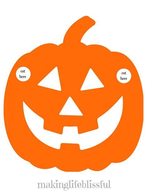 printable pumpkin mask free printable halloween garland making life blissful