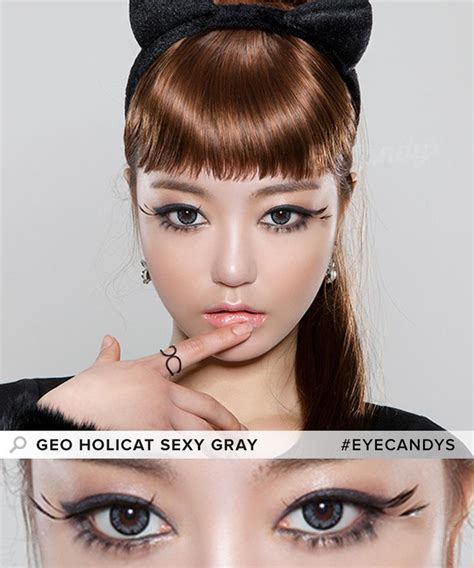 Geo Holicat Lens Xhc 505 Grey buy geo holicat cat grey colored contacts eyecandys