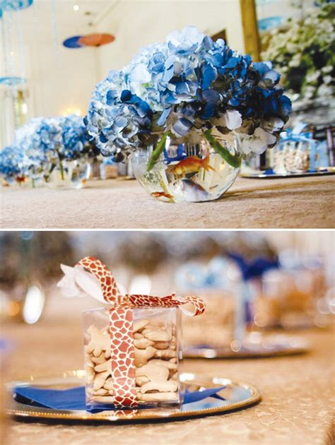 elegant blue boy baby shower ideas hostess with the