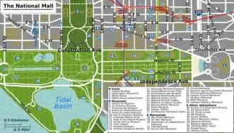 Washington Dc Mall Map by Printable Map Washington Dc National Mall Map