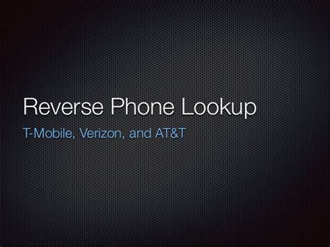 Att Phone Lookup Phone Number Lookup Verizon At T T Mobile Guide Free