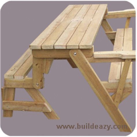 folding wood picnic table bench plans diywoodplans