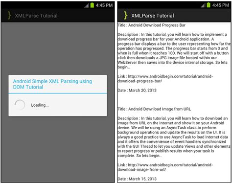 xml tutorial with c android simple xml parsing using dom tutorial androidbegin