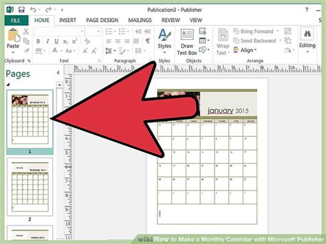 how to make calendars how to make a monthly calendar with microsoft publisher