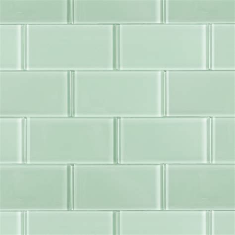 glass tiles loft seafoam polished 3x6 glass tile