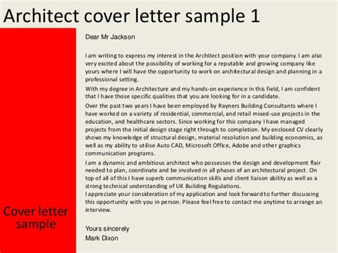 Cover Letter Architecture Application Architect Cover Letter