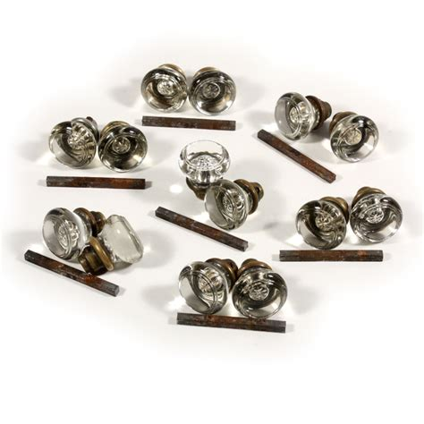 Glass Door Knob Set Antique Glass Door Knob Sets Ndk80 Four Available For Sale Antiques
