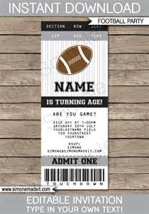 Football Ticket Invitation Template by Black And Gray Silver Football Ticket Invitation