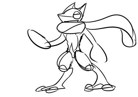 pokemon coloring pages greninja greninja by colonelcheru on deviantart