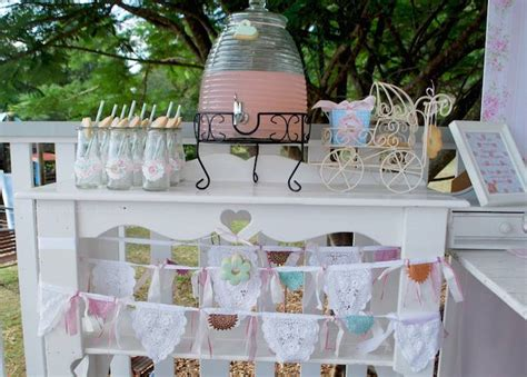 shabby chic baby shower ideas shabby chic pink and mint baby shower via kara s